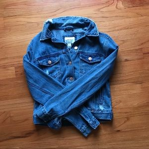 Brand New Denim Ripped Jacket/ Jean Jacket